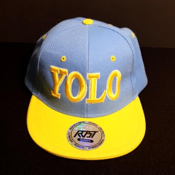 4aa69d9d0 VTG Yolo RVST Snapback Flatbill Hat Cap